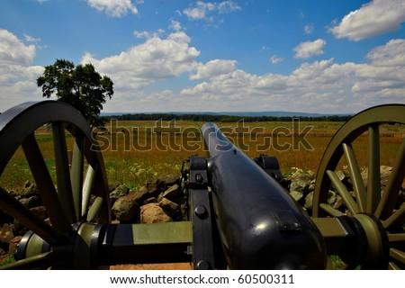 Gettysburg battlefield cannon