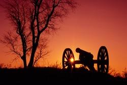 Gettysburg Cannon Sunrise
