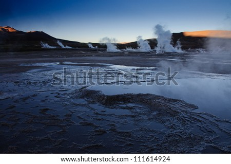 Geysers - stock photo