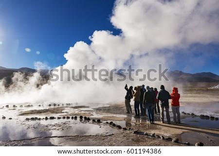 geysers del tatio  chile  ...