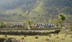 Ghachok village from Pokhara Nepal