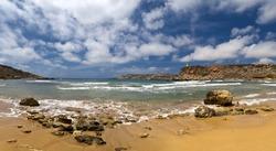 Ghajn Tuffieha Bay is one of the most beautiful and idyllic beaches on the island of Malta