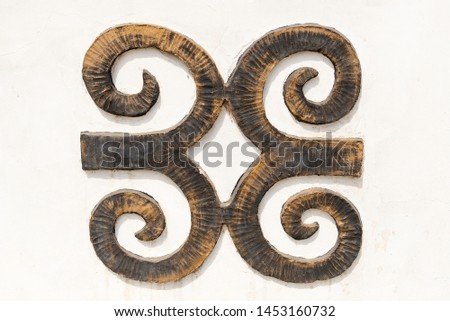 Ghana african wooden ancient symbol