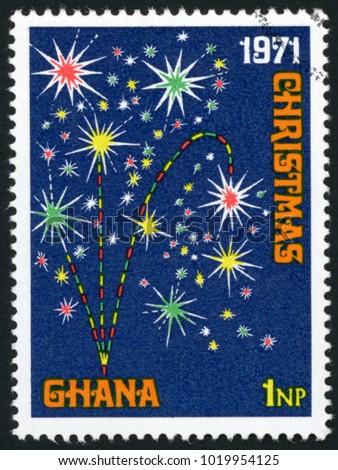 ghana   circa 1971  stamp...