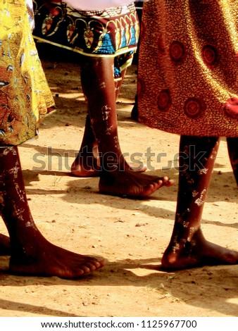 Ghanaian Dancer Feet #1125967700