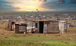 ghetto area near Johannesburg in Gauteng, South Africa
