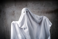 Ghost costume out of a sheet with eye holes cut out