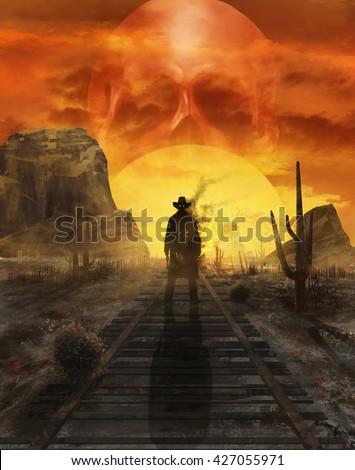 ghost cowboy illustration....