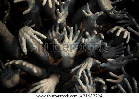 ghost hand,zombie Bloody hands background,maniac,Blood zombie hands, zombie theme, halloween theme