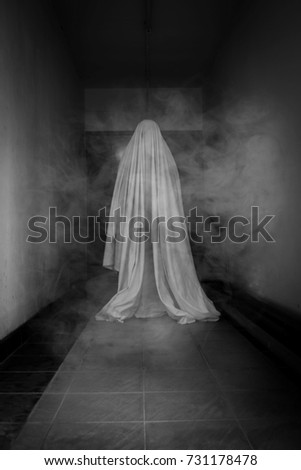 Ghost in haunted house Foto stock ©
