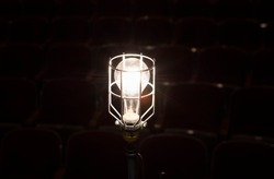 ghost light on theater stage