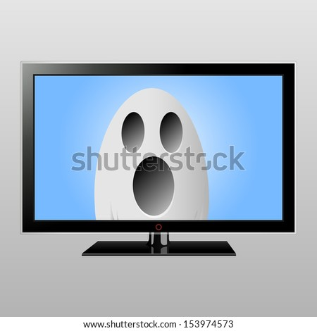 Ghost on television screen