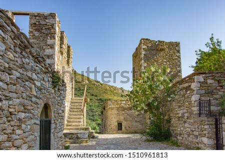 Ghost Stone Village, Mani, Greece.