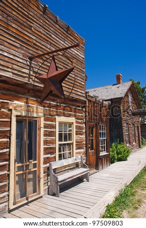 Ghost town in Virginia City, Montana