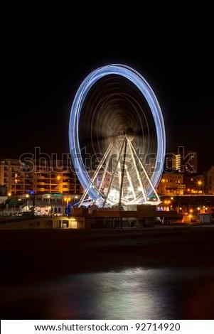 Giant Brighton Wheel at night.