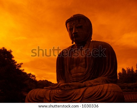 giant Buddha monument in Kamakura, Japan