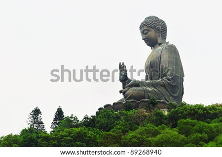 Giant Buddha/Po Lin Monastery in Hong Kong, Lantau Island