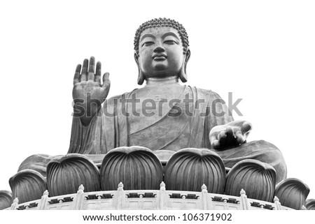 Giant Buddha statue in Hong Kong Tian Tan