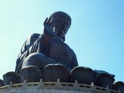 Giant Buddha Status TianTan Buddha in Hongkong