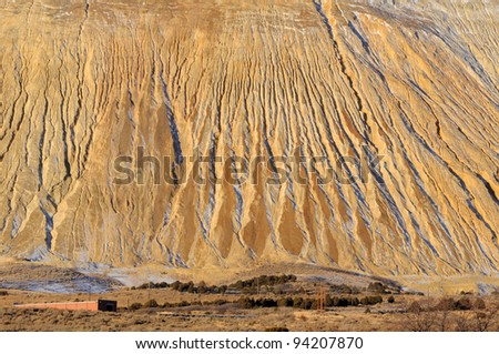 Giant Copper Mine Tailings Pile