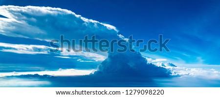 Giant cumulonimbus cloud