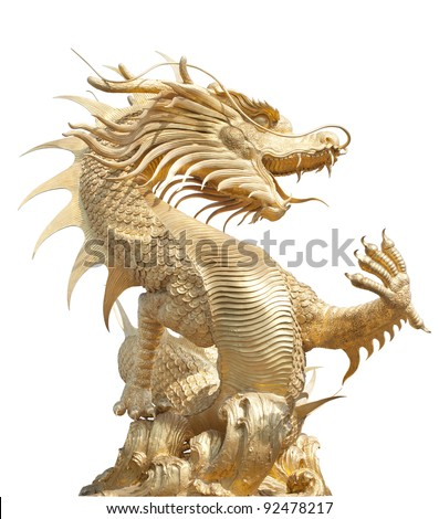 Giant golden Chinese dragon for year 1212.