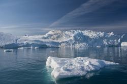 Giant Icebergs of Disko Bay near Illulisat, Greenland, a popular cruise destination