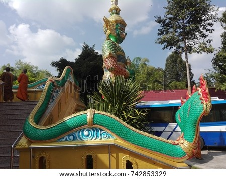 Giant in temple  of Thailand #742853329