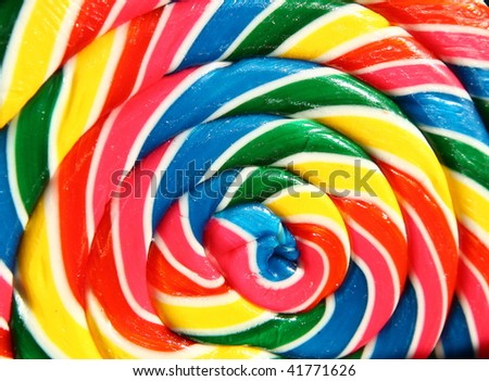 giant lollipop with beautiful colors