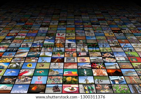 Giant multimedia widescreen video and image walls #1300311376
