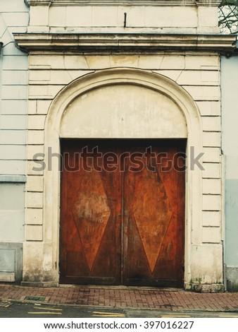 Royalty-free Vintage wooden giant door castle gate… #451141957 ...