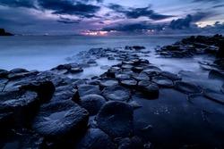 Giant's Causeway, Co. Antrim, Northern Ireland. Sunset