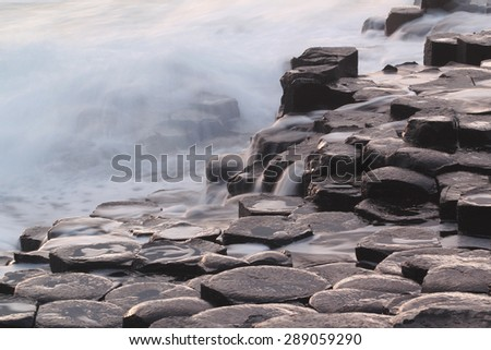 Giant's causeway - tourist site in Northern Irland Foto stock ©