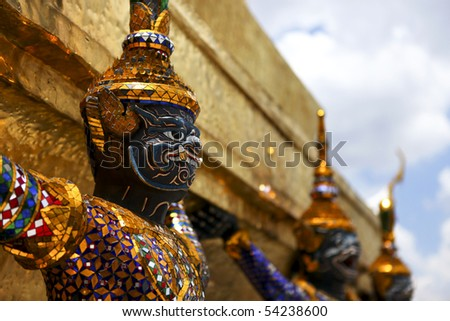 Giant Sculpture in Grand Palace of Thailand
