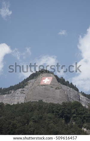 Free photos Giant Swiss flag on a mountain above Vitznau, above Lake ...