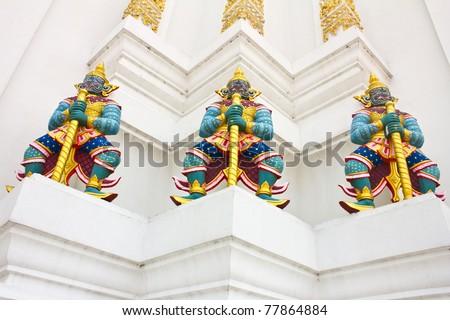 Giant under big thai pagoda