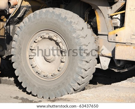 Giant wheel of a coal dumper
