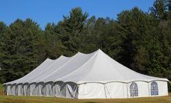 giant white entertainment tent