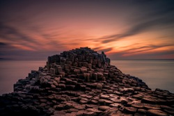 Giants causeway, Ireland,sunset, antrim coastline,wild atlantic way,