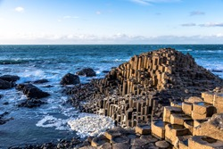 Giants of Causeway in Northen Ireland
