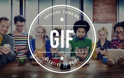 GIF Animated Images Graphics Interchange Format Concept