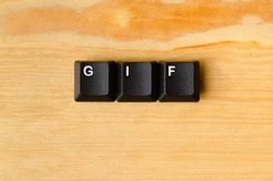 Gif word with keyboard buttons