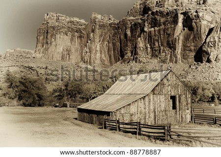 Gifford barn at the Fruita Oasis in Capitol Reef National Park, Utah