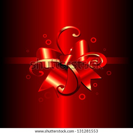 Gift background with red bow