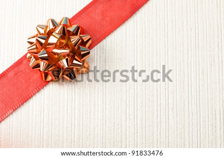 gift background with ribbon and bow