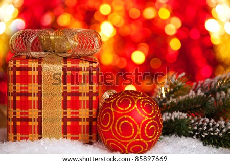 Lighted Gift Boxes Christmas Decorations Gift Box And Christmas Tree