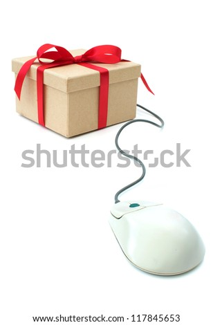 Gift box and computer mouse