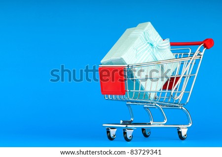 Gift box and shopping cart