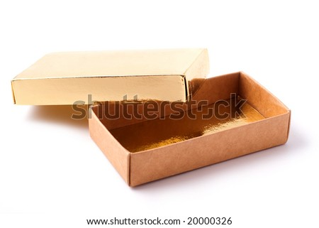 Gift box, clipping path