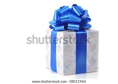 gift box  close up isolated on white background